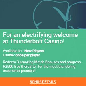 thunderbolt welcome bonus